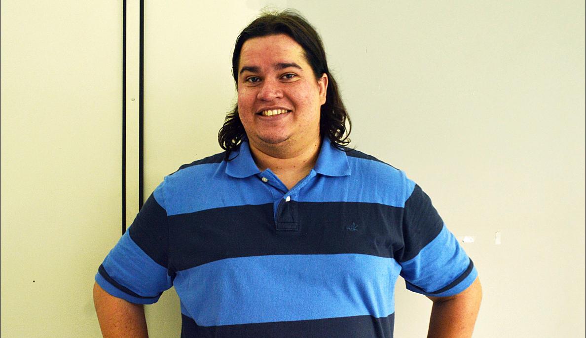 Professor Fabio de Sá, desenvolve atividades lúdicas no ensino./ Crédito: Jessica Carecho
